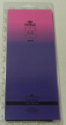 Prinz Gard Stamp mounts CLEAR backed strips per 10 - size 68mm high