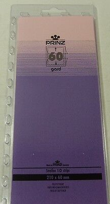 Prinz Gard Stamp mounts CLEAR backed strips per 10 - size 60mm high