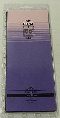 Prinz Gard Stamp mounts CLEAR backed strips per 10 - size 86mm high