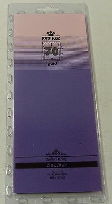 Prinz Gard Stamp mounts CLEAR backed strips per 10 - size 70mm high