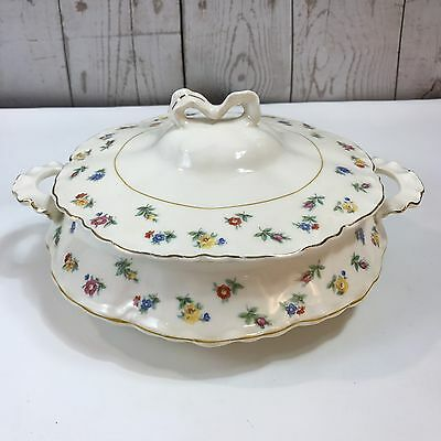 Antique Radisson W. S. George 122B Vegetable Casserole Dish with Lid Floral