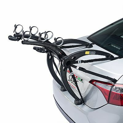 Bones 3-Bike Trunk Car Rack | Saris Partaciclo Portabici 3 Bici Bones 3 Black