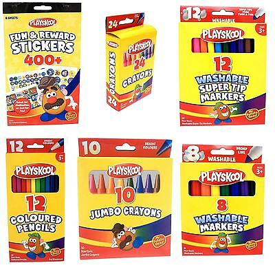 Playskool stickers colour pencils non toxic crayons washable markers Stationery