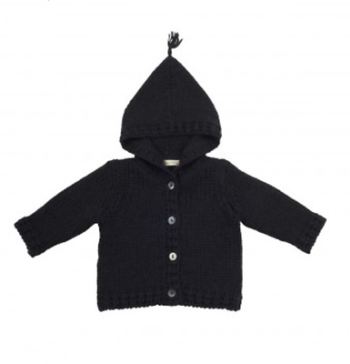 Bonpoint Baby Alpaca Hooded Knitted Jacket 2 Years