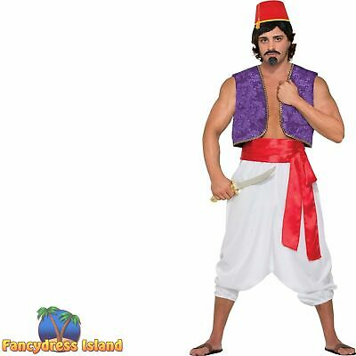 PURPLE GENIE ALADDIN WAISTCOAT VEST adults mens fancy dress costume accessory