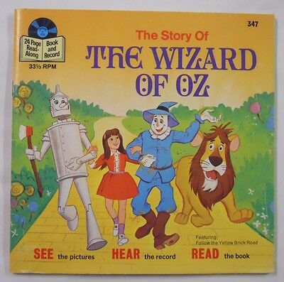VINTAGE! 1978 Disneyland Records Read-Along Book & Record Set-The Wizard of Oz