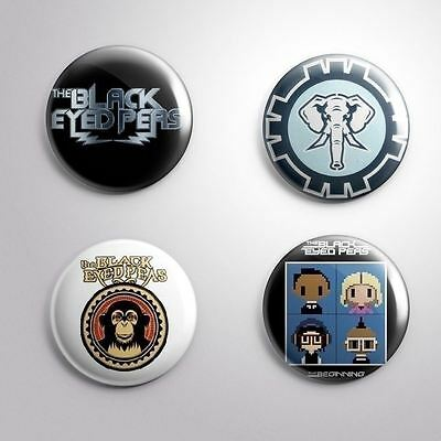 """4 THE BLACK EYED PEAS -  Pinbacks Badges Buttons 1"""" 25mm"""