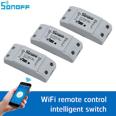 Sonoff 10A Interruptor intelligent - Smart Wifi Commutateur pour Smart Domotique
