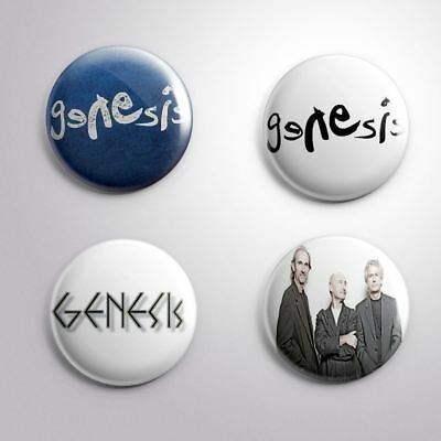 4 GENESIS -  Pinbacks Badge Button 25mm 1''