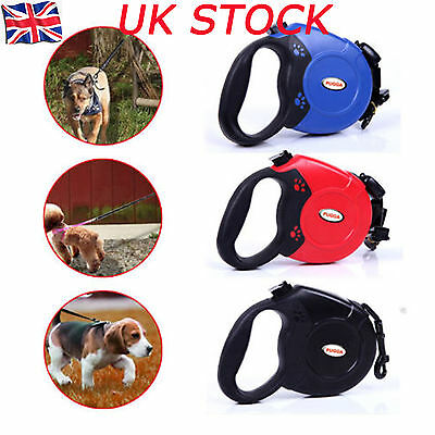 8M Max 50KG Good Dogs Lead Leash Strong Retractable Extendable Lockable Tape NEW