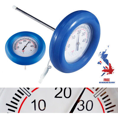 Big Blue Large Face Floating Swimming Pool Spa Hot Tub Bath Spa Pond Thermometer