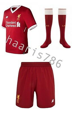 Liverpool FC 2017/18 Full Home Kit! With Tags!