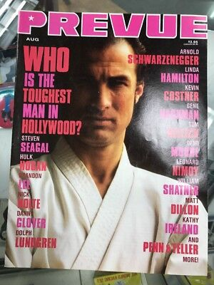 Prevue Magazine Aug/Oct 1991 Vol 2 #45 Toughest Man In Hollywood