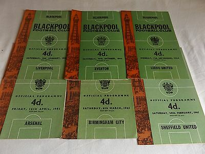 Blackpool 1964/1965 Home Programmes