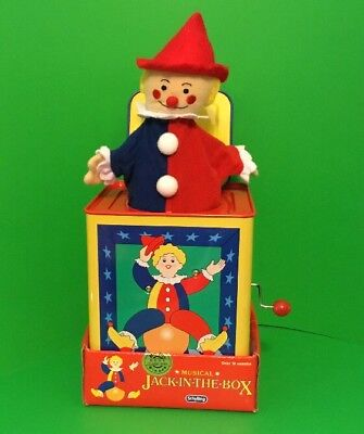 Clown Classic Musical Jack In The Box Toy Schylling 2002