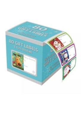 80 Holographic Cute Adhesive Labels - Christmas Gift Wrapping Decoration