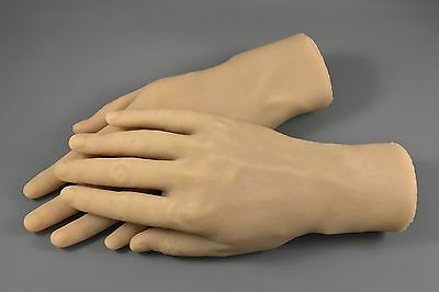 NEW Lifelike 100% Silicone MALE Mannequin RIGHT & LEFT HANDS Jewelry Display