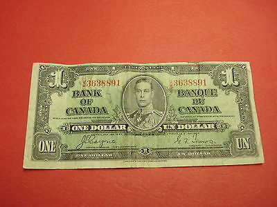 1937 - Canada one dollar bill - Canadian note - UM3638891