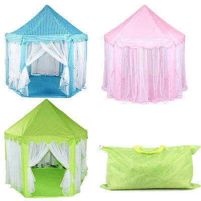 Kid Children Play Tent Teepee Princess Castle Indoor Outdoor Playhouse Gift Toy