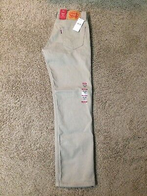 NWT Authentic Levis 511 Slim Fit Beige Tan Khaki Jeans With Stretch (0925)