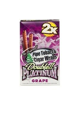 Double Platinum Blunt Wraps Grape-- Brand New --- 25/2 Total 50