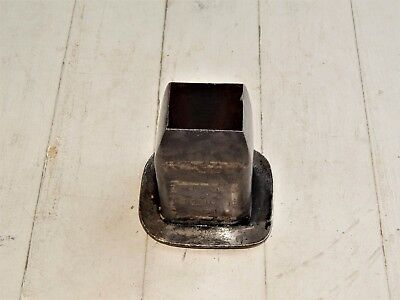 "LARGE 1-3/4"" x 1-3/8"" RECTANGULAR LEATHER OR WADD PUNCH CUTTER"