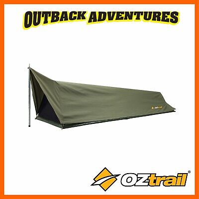 Oztrail Swag Cooson Expedition Single Green Canvas Dome New Model Swags