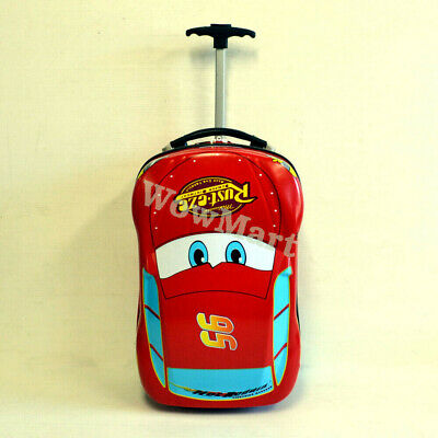 Deluxe Kid Wheeled Travel Luggage Suitcase Bag Trolley (Car)