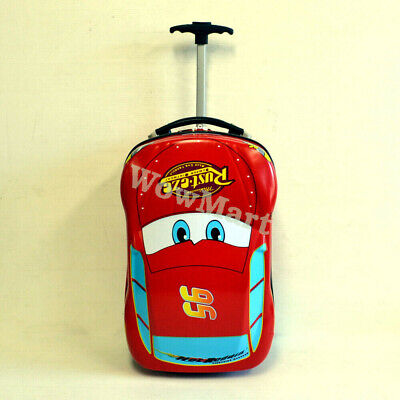 Kid Gift Deluxe Wheeled Suitcase Bag Travel Luggage Trolley + Backpack Set (Car)