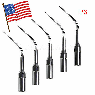 5X P3 Dental Ultrasonic Scaler Tips Tip fit EMS Woodpecker USA STOCK skysea