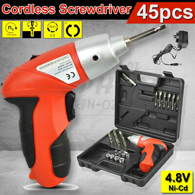 45pcs Cordless Screwdriver Drill Driver Screw Bit Set Rechargeable Electric Tool