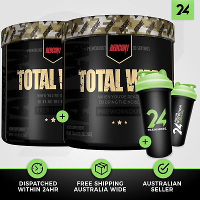 2 X TOTAL WAR by REDCON 1 | Extreme Pre Workout Energy Focus PWO | Free GIFT!