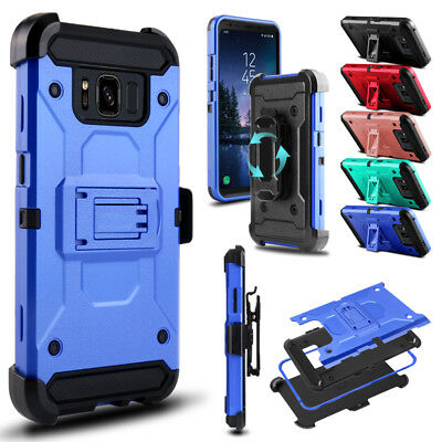 For Samsung Galaxy S8 Active Shockproof Hybrid Impact Kickstand Clip Case Cover
