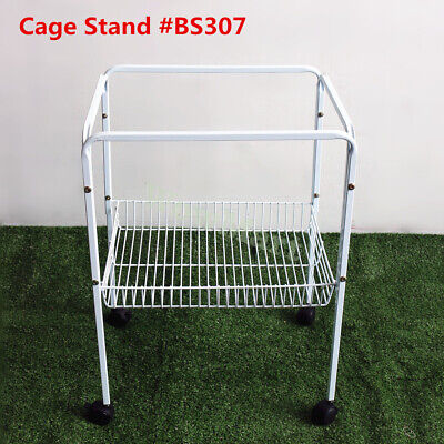 Durable Portable Lockable Wheel Bird Cage Stand #BS307  Fit Cage Base 43.5*33cm