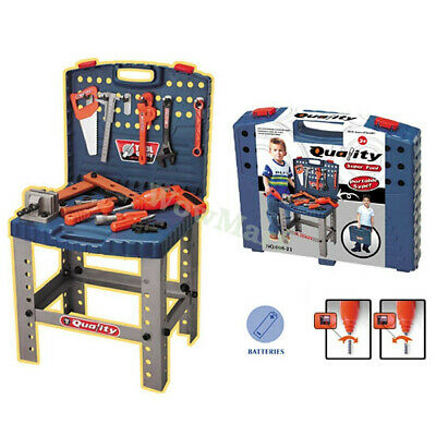 New Pretend Toy Kid  Working Bench Tool Carry Case Set  (#008-22)