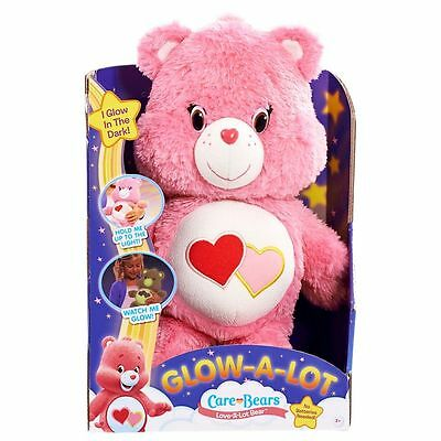 Care Bears Glow-A-Lot Pink Love-A-Lot Bedtime Bear - Brand New