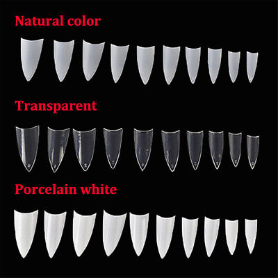 500Pcs Clear Natural White French False Nail Tips Art-Uv Gel/acrylic Diy Decor U