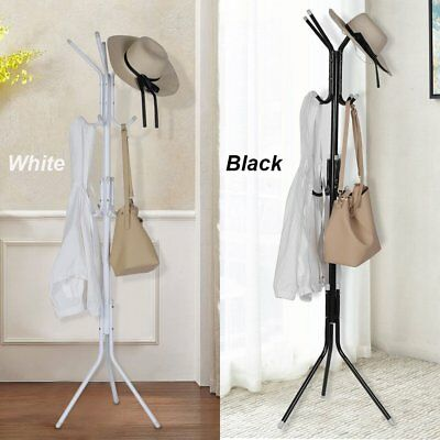 Coat Hanger Stand 3-Tier Hat Clothes Metal Rack Tree Style Storage Hooks AUS ON
