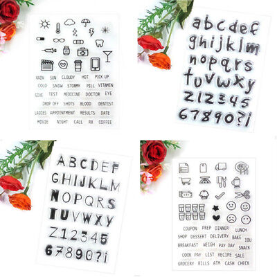 DIY Alphabet Transparent Silicone Clear Rubber Stamp Sheet Cling Scrapbook