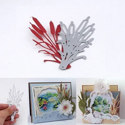 Deco Cards Making Decor Embossing Stencil Cutting Dies Cattails Scrapbooking