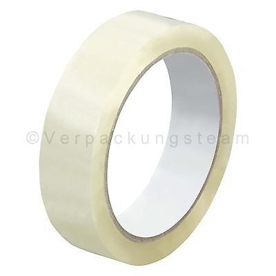(EUR. 0,01/m) Packing Tape narrow OPP-909NN 25 mm x 66 m Low Noise transparent
