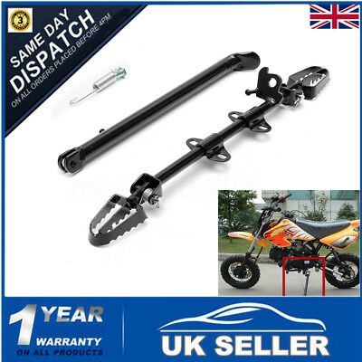 Pit Dirt Bike 110cc 125cc 140cc Side Foot Pegs Footpegs Mount Rest Kick Stand