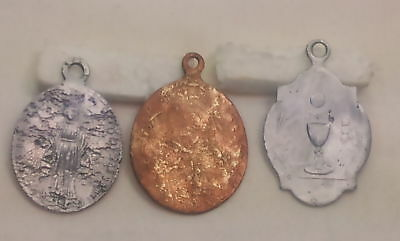 Ancient Christian religious pendant. From JERUSALEM antiquities. Set of 3