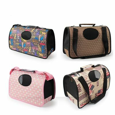 Pet Dog Cat Puppy Portable Travel Carry Carrier Tote Cage Bag Crates Kennel Box