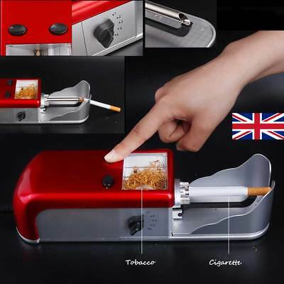 UK Cigarette Rolling Machine Electric Automatic Tobacco Roller Injector Maker #W