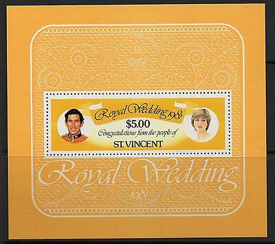 St.vincent Sgms674 1981 Royal Wedding   Mnh
