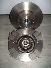 Renault Megane Mk2 Rear Brake Discs X2 And Pads With Abs Magnet And Bearing