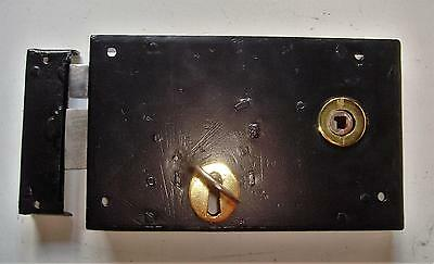 """Victorian 9"""" x 5.1/2"""" Steel Cased Lockable Rim Latch for L/H Fitting"""