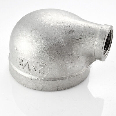 """2"""" X 1/2"""" Female Threaded Elbow Reducer Pipe Fitting 90 Degree angled SS304 BSP"""