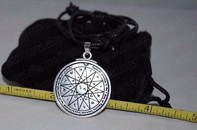 Fourth Pentacle Mercury Seal of King Solomon Talisman Pendant Charm Necklace